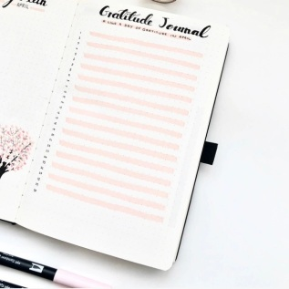 Great Bullet Journal Spread Ideas for April Gratitude Journal Spread Suzie Speaks