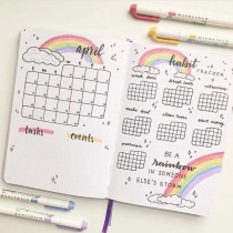 Great Bullet Journal Spread Ideas for April Habit Tracker Naomi Journals