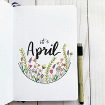 Great Bullet Journal Spread Ideas for April mybujoyesterday