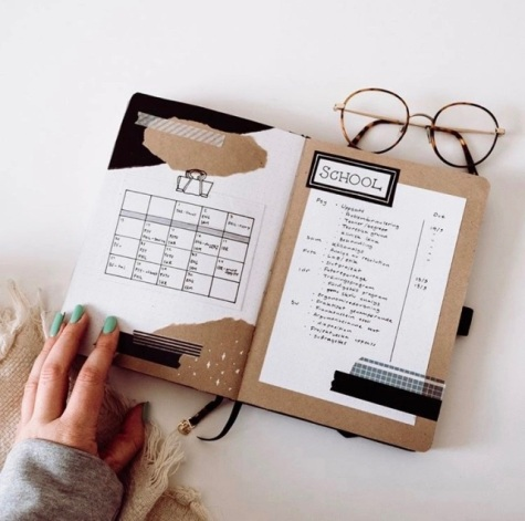 Great Bullet Journal Spread Ideas for April Study Tracker LisenLettering