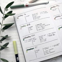 Great Bullet Journal Spread Ideas Weekly Spread TheJournalInk