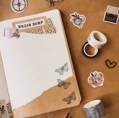Great Bullet Journal Spread Ideas for May Brain Dump Letters by Niks
