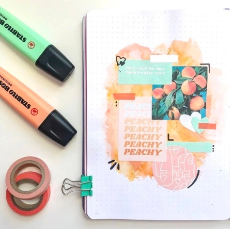 Great Bullet Journal Spread Ideas for May Collage Naomi Journals