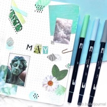 Great Bullet Journal Spread Ideas for May Cover Page b.bulletjournal