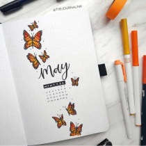 Great Bullet Journal Spread Ideas for May Cover Page Journal Ink