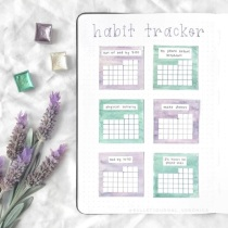 Great Bullet Journal Spread Ideas for May Habit Tracker Veronica