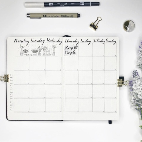 Great Bullet Journal Spread Ideas for May Monthly Calendar Suzie Speaks