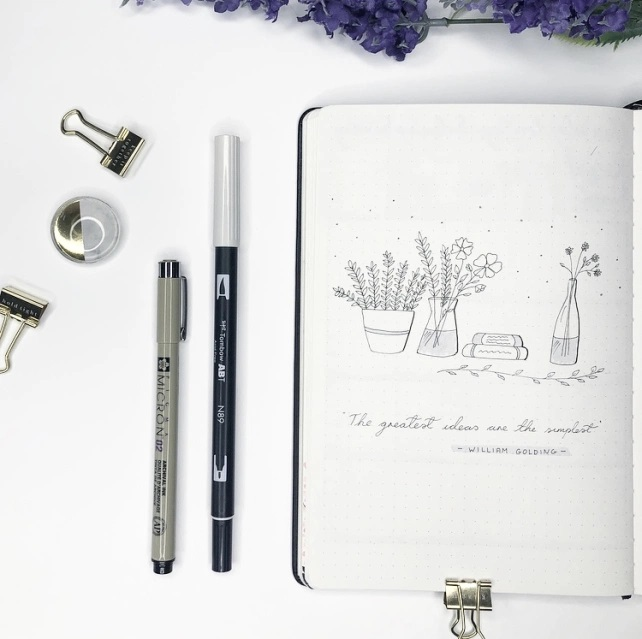 Great Bullet Journal Spread Ideas for May Quote Page Suzie Speaks