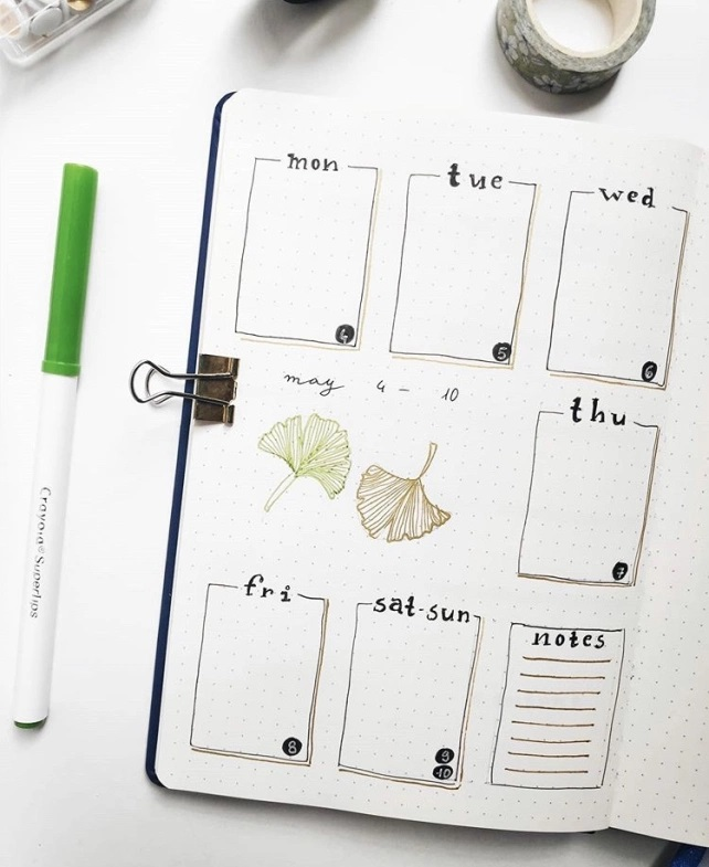 Great Bullet Journal Spread Ideas for May Weekly Spread Lets Plan With Mimi