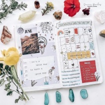 Great Bullet Journal Spead Ideas for June Monthly Spread Quinn Bouley