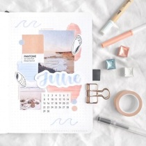 Great Bullet Journal Spread Ideas for June Cover Page Bullet Journal Veronica