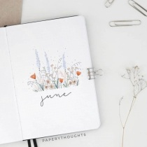 Great Bullet Journal Spread Ideas for June Cover Page PaperyThoughts