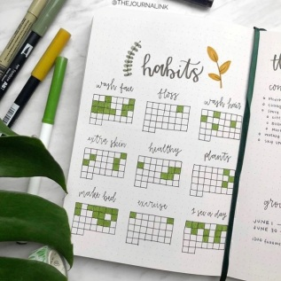 Great Bullet Journal Spread Ideas for June Habit Tracker Journal Ink