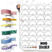 Great Bullet Journal Spread Ideas for June Mood Tracker bbulletjournal