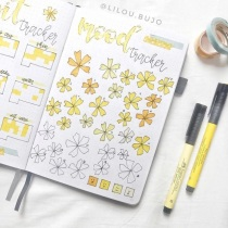 Great Bullet Journal Spread Ideas for June Mood Tracker Lilou Bujo