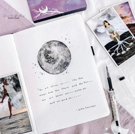 Great Bullet Journal Spread Ideas for June Quote Page Quinn Bouley