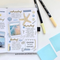 Great Bullet Journal Spread Ideas for June Weekly Spread Doodle Craving
