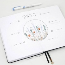 Great Bullet Journal Spread Ideas for June Weekly Spread PaperyThoughts