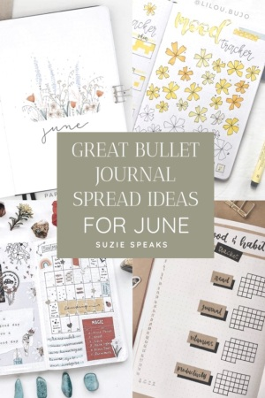 Great Bullet Journal Spread Ideas for June