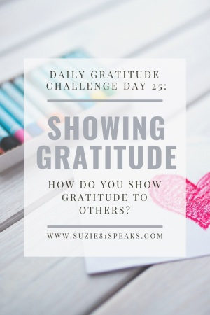 Daily Gratitude Challenge showing gratitude
