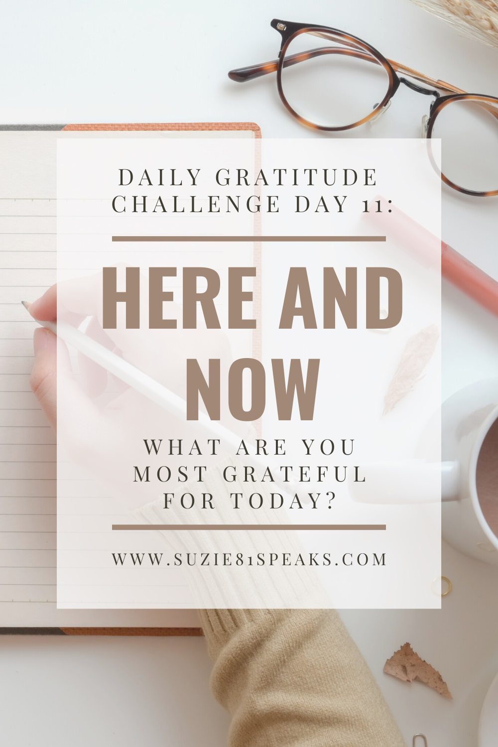 Daily Gratitude Challenge Day 11: Here and Now