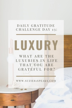 Daily Gratitude Challenge What luxuries in life are you grateful for