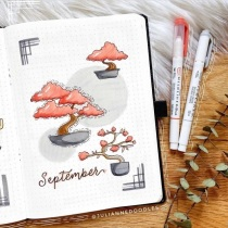 Great Bullet Journal Spread Ideas for September Cover Page Julianne Doodles