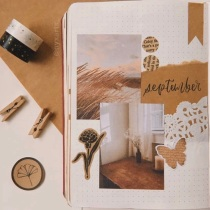 Great Bullet Journal Spread Ideas for September Cover Page NyxArts