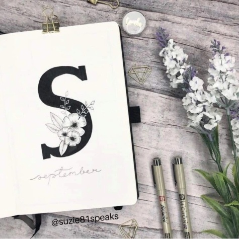 Great Bullet Journal Spread Ideas for September Cover Page
