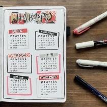 Great Bullet Journal Spread Ideas for September Habit Tracker Study Astoria