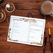 Great Bullet Journal Spread Ideas for September Monthly Log