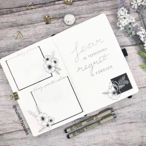 Great Bullet Journal Spread Ideas for September Monthly Plan