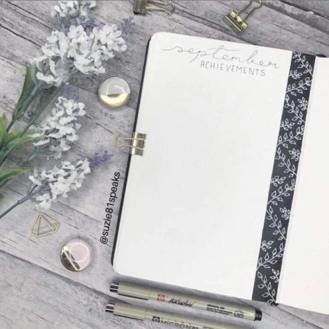 Great Bullet Journal Spread Ideas for September September Achievements