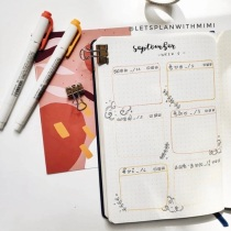 Great Bullet Journal Spread Ideas for September Weekly Spread Lets Plan with Mimi