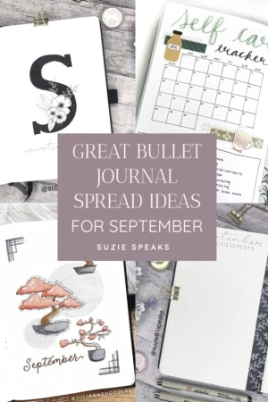 Great Bullet Journal Spread Ideas for September